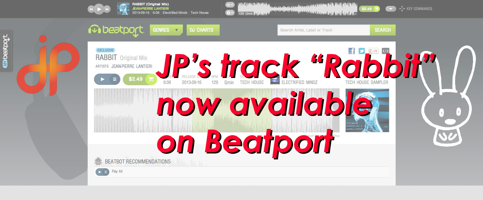 JP Rabbit on Beatport banner