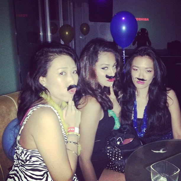Moustache girls at passion