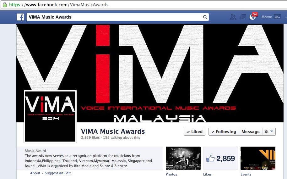 Vima 2014 facebook banner