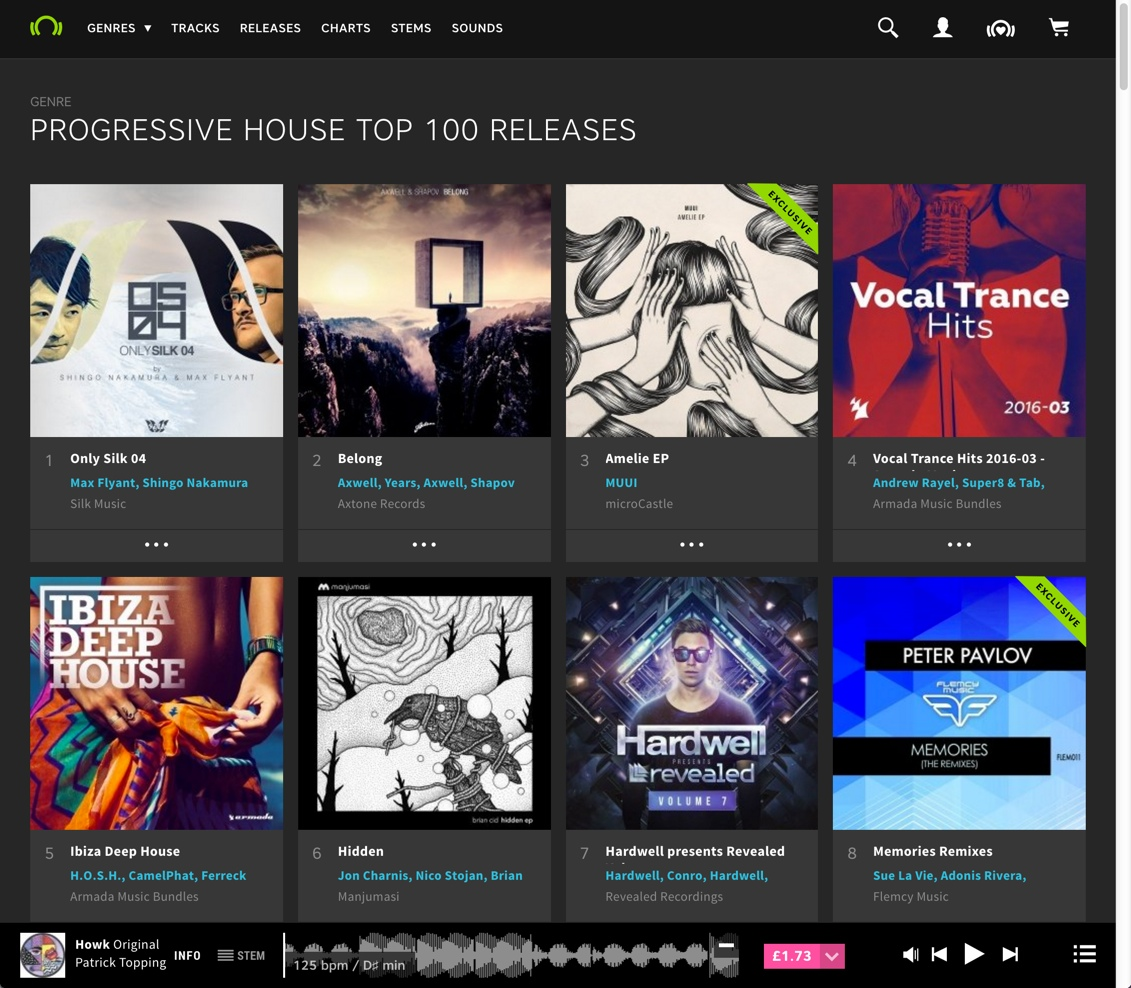 Peter Pavlov Memories Remixes 8th on Beatport Progressive releases chart