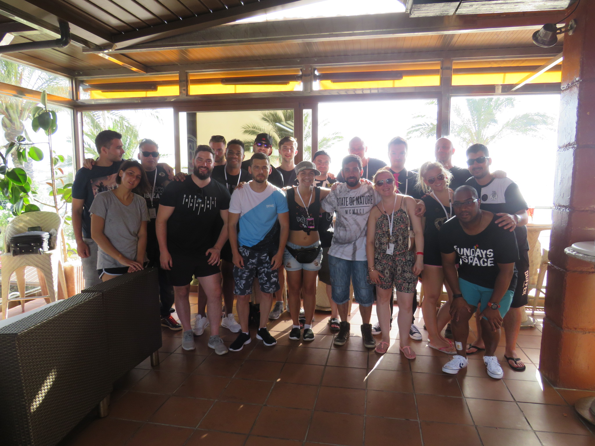 Parasol Ibiza tour group pic (not all are in there)